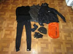 Ultralight Backpacking Gear List - Clothing Packed