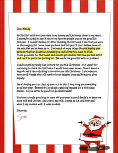 personalized letter from santa ChristmasWinter Pinterest