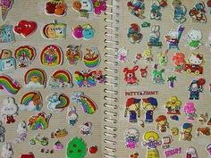 Sticker Books! I had so many puff stickers, and scratch and sniff. We would trade stickers for hours.