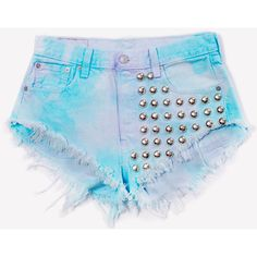 Hand Dyed Vintage One of A Kind Short ❤ liked on Polyvore featuring shorts, vintage one and short shorts