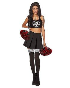 Pentagram Cheerleader Set - FOREVER HALLOWEEN