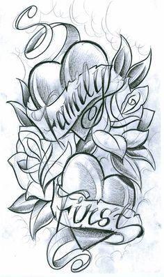 family first tattoo idea Family First Tattoo, Family Tattoos, Heart Tattoo Designs, Tattoo Sleeve Designs, Sleeve Tattoos, Family Tattoo Designs, Tatoo Art, Body Art Tattoos, New Tattoos