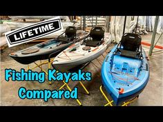 Lifetime Fishing Kayaks Compared - YouTube Kayaks, Kayak Fishing, Youtube, Kayaking, Youtubers, Youtube Movies, Canoeing