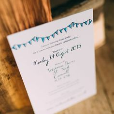 Dearly Beloved Bespoke Wedding Invitation for a Cornish Country Wedding