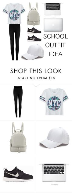 """Back To School Outfit #6"" by gabrielleluy ❤ liked on Polyvore featuring M&S Collection, Aéropostale, MICHAEL Michael Kors, NIKE, school, sporty, girl, Minimaliststyle and fashionset"