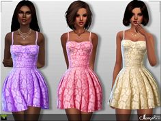 Sims 3 Addictions: Promises Dress by Margies Sims • Sims 4 Downloads