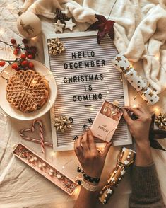 Looking for for ideas for christmas inspiration?Browse around this website for unique Christmas inspiration.May the season bring you serenity. Pre Christmas, Christmas Mood, Merry Little Christmas, Christmas And New Year, All Things Christmas, Christmas Flatlay, Christmas Is Coming Quotes, Xmas Quotes, Holiday Mood