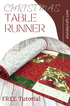 How easy is this Christmas Table Runner to make? It's really easy and ideal for a confident beginner to try. The table runner is made from contrasting squares of Christmas fabric, but it can also be made for other seasons or occasions using. These table runners make lovely gifts for family and friends. It's finished with a simple line quilting and binding. If you are unsure on adding binding, we have a tutorial on how to bind your project.