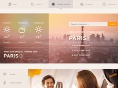 Weather Forecast - Lufthansa - Concept Web Design