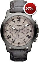 Fossil® Men's Gray Stainless Steel Gray Leather Grant Chronograph Watch from Belk. Fossil Watches For Men, Cool Watches, Men's Watches, Dress Watches, Fossil Leather Watch, Summer Handbags, La Mode Masculine, Grey Leather, Buy Shoes