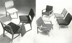The 666 Side Chair and 650 Line Lounge Chair designed by Jens Risom, c. 1943   PC: Knoll Archive   Knoll Inspiration