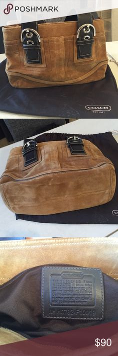 Genuine Leather Coach handbag High quality. No visible wear. Dust bag included. Coach Bags