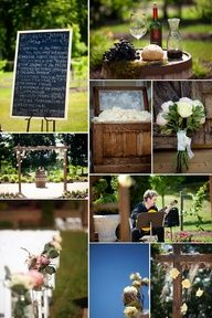 Beautifully simple outdoor wedding decorations
