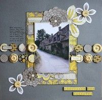 Must scraplift!  I think this color scheme is in vogue rt now.  A Project by Sandie Vincent from our Scrapbooking Gallery originally submitted 01/12/12 at 05:29 PM