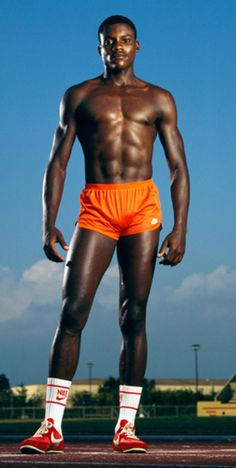 On & Aug 1983 at the World Athletics Championships Carl Lewis won gold for running and long jump Carl Lewis, Robert Mapplethorpe, World Athletics, Black Male Models, Long Jump, Male Figure, Track And Field, Olympic Games, Black People