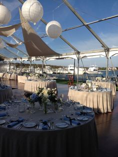 Tented Wedding overlooking the Marina at The Montauk Yacht Club