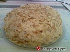 Greek Sweets, Greek Desserts, Party Desserts, Greek Recipes, Desert Recipes, No Bake Desserts, Greek Pastries, Beautiful Cakes, Cake Recipes