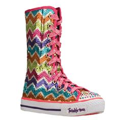 Skechers  Kids' Ziggy Girl Pre/Grd at Famous Footwear  I love these!  Probably not appropriate for a 49 yr old woman.  Guess I'll have to live vicariously thru Gracie!