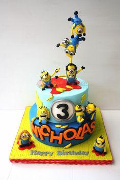 Popo's Creation: Minion Cake
