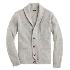++ Lambswool three-pocket cardigan