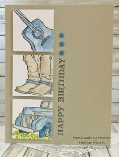 By Heather Heroldt. Stamps from Country Livin' by Stampin' Up.