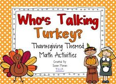 Who's Talking Turkey? {Thanksgiving Math Centers}