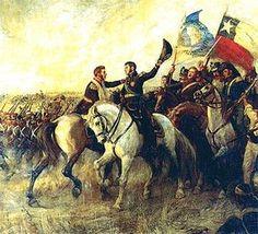 Cómo fue la batalla de Chacabuco, por la que el mundo conoció a San Martín | General José de San Martín - Infobae Independence War, American Independence, American War, World History, Warfare, Tatoos, Folk Art, Drawings, Painting