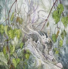 Gleaming from the Catkins (a birch spirit greenman) Stephanie Pui-Mun Law - Shadowscapes