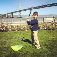 Batting practice on the #Embarcadero #sanfrancisco