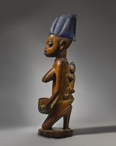 Yoruba Female Bowl-Bearing Figure, Nigeria