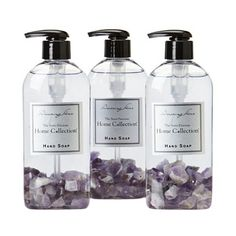 Amethyst Hand Soap - Set of 3 from the Romantic Retreat event at Joss and Main!  Neat idea for guest bath.