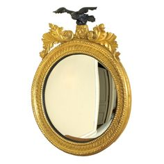 Rondel Mirror with Eagle