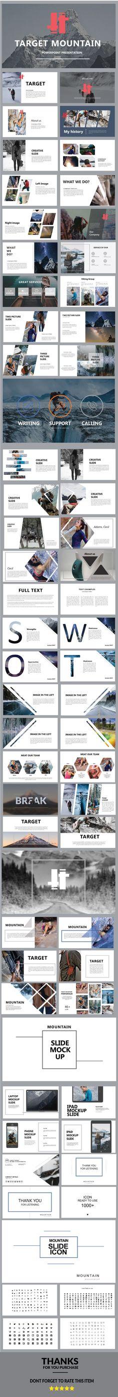 Target Mountain - PowerPoint Presentation Template