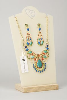 Collana ed orecchini/ Necklace and Earrings, P/E 2013, VIA FRANCESCA By Barbieri Creazioni