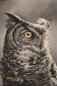 Owl painting by gimgams Owl Art, Bird Art, Animal Tattoos, Owl Tattoos, Tattoo Ink, Arm Tattoo, Fish Tattoos, Sleeve Tattoos, Buddha Tattoos