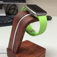 From the gadget flow(Pinterest) Flaunt your Apple Watch as a simple timepiece while charging it on the Navitech. #android #ipad #gadget