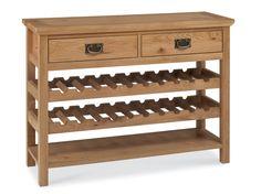 Paris Oak Console Table with Wine Rack from Dansk