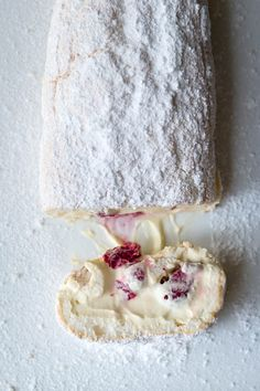 Milk and Honey: Marshmallow Pavlova Roulade with Lemon Curd Mascarpone and Raspberries