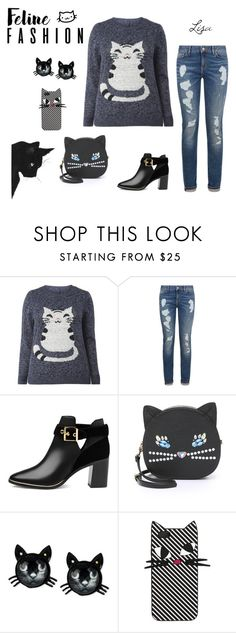 """""""Feline Fashion"""" by coolmommy44 ❤ liked on Polyvore featuring Tommy Hilfiger, Ted Baker, Patricia Chang, Betsey Johnson, Lulu Guinness, cats, polyvorecontest and catstyle"""