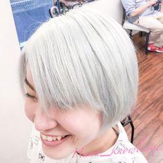 #ヘアカラー #派手髪 #ブリーチ1回 #ホワイトヘア #ホワイトブリーチ #ハイトーンカラー White Blonde, Hana