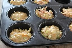 Savory muffins with ham, cheese and leek - Tasty and Simple - Savory muffins with ham, cheese and leek – Tasty and Simple - Quiche Muffins, Savory Muffins, Oven Dishes, Tasty, Yummy Food, Lunch Snacks, Delish, Snack Recipes, Food Porn