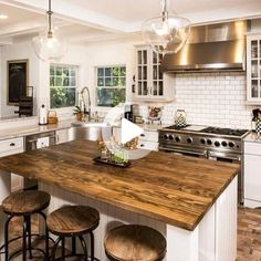 50 Classy Wooden Kitchen Island Ideas For Your Kitchen . - 50 Classy Wooden Kitchen Island Ideas For Your Kitchen 50 Classy Wooden Kit - Farmhouse Kitchen Island, Modern Kitchen Island, Modern Farmhouse Kitchens, Home Kitchens, Kitchen Islands, Small Kitchens, Wooden Island Kitchen, Wooden Kitchen Countertops, Kitchen Island Countertop Ideas