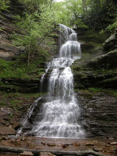 Cathedral Falls - One of the highest and most scenic waterfalls in West Virginia. It is very easy to visit, being located right alongside US 60. Definitely worth a visit