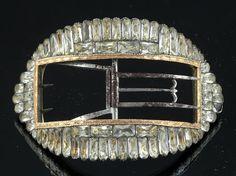 RARE Cased 18thC Georgian Silver 14k Rose Gold Paste Gems Shoe Buckles C1770 | eBay