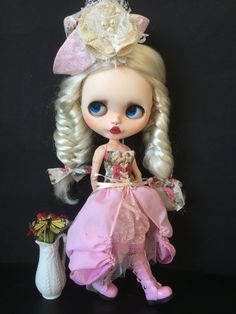 OOAK Custom Blythe Art Doll Sugar  by Bravura by Bravuradolly