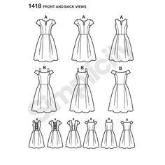 New Look Pattern 6249 Misses Skirt Drawstring Waist 5 Variations Size 8-18 Uncut