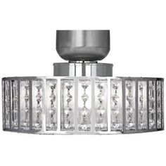 Ceiling fan light fixture - I love this chandelier-feeling fixture as an option for your ceiling fan.