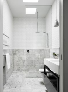 Exact layout for main bathroom From the December 2015 issue of Inside Out magazine. Styling by Mim Design… All White Bathroom, Family Bathroom, Laundry In Bathroom, Bathroom Renos, Grey Bathrooms, Beautiful Bathrooms, Bathroom Renovations, Modern Bathroom, Bathroom Ideas