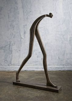 Isabel Miramontes Contemporary Figurative Sculpture: Big Step 2016 What is Art ? Sculptures Céramiques, Art Sculpture, Abstract Sculpture, Sculpture Ideas, Surrealism Sculpture, Sculpture Garden, Contemporary Sculpture, Contemporary Decor, Metal Art