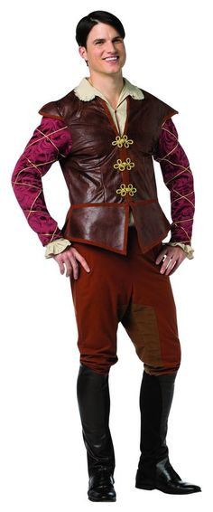 Rasta Imposta Men's Plus-Size Once Upon A Time Prince Charming, Red/Brown, Plus - Halloween costume